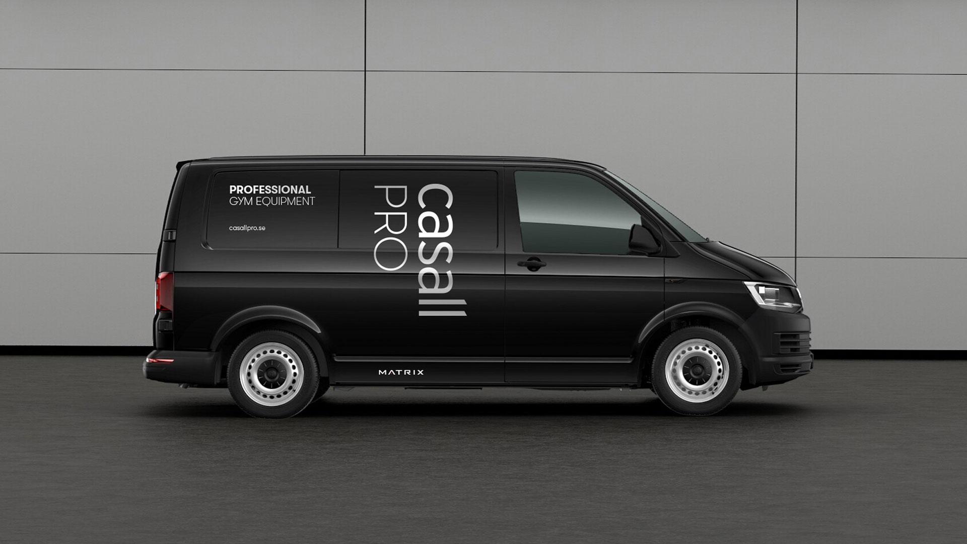 Black casall van